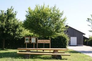 """Freizeitanlage Hallgarten mit Grillhütte/Grillplatz im Natur- und Erlebnispark und Einstieg """"Masdascher Burgherrenweg"""""""