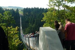Geierlay – längste Hängeseilbrücke Deutschlands – Länge 360 m zwischen den Nachbarorten Mörsdorf und Sosberg
