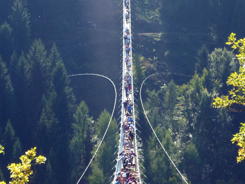 Geierlay - längste Hängeseilbrücke Deutschlands - Länge 360 m zwischen den Nachbarorten Mörsdorf und Sosberg