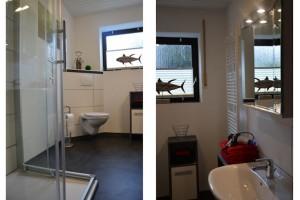"""Ferienwohnung """"Hedi"""" – Bad mit WC, Dusche und Waschbecken"""